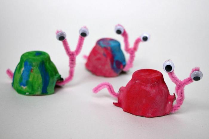 schencken in bunten farben selber machen basteln mit eierkarton upcycling ideen eierpappe