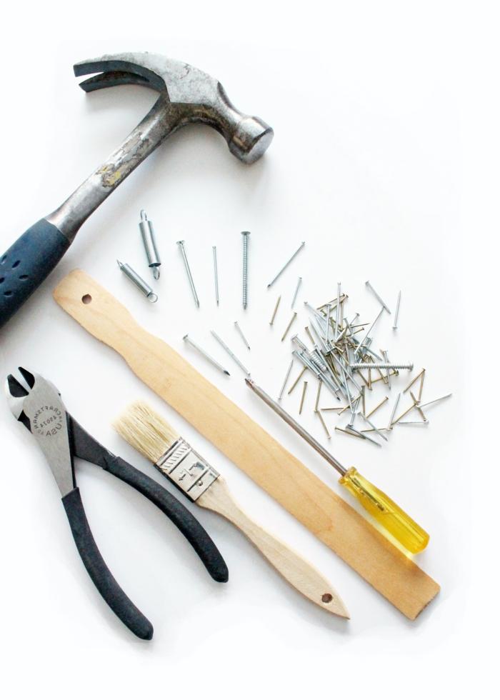 werkzeug set mit hammer