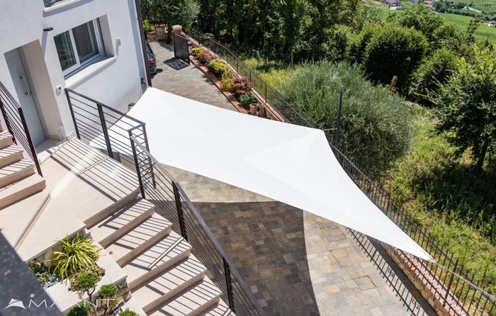 maanta moderner sonnenschutz weißer sonnensegel gartenzubehör garten ideen