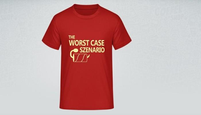rotes t shirt mit lustigem abdruck t shirt selber gestalten tshirt bedrucken lassen