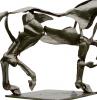 skulpturen moderne deko fürs zuhause pferd equus argentum