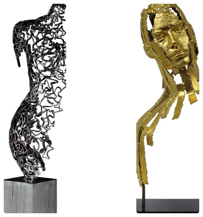 skulpturen wohnung dekorieren moderne dekoideen fürs zuhause wohnungsdeko