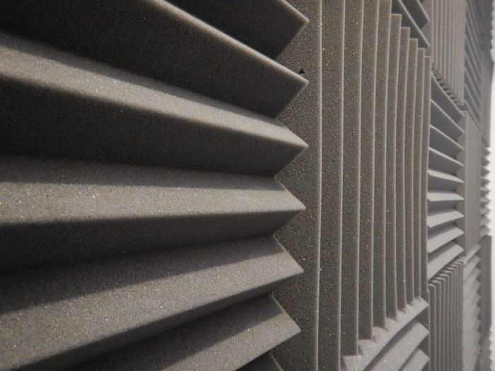 acoustical foam or tiles for sound dampening. music room. soundproof room.