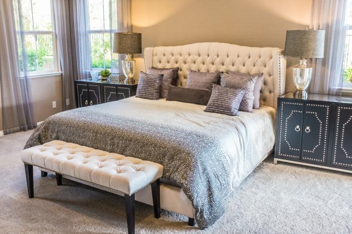 schlafzimmer einrichten modern großes bett 200x200 bett kaufen infos