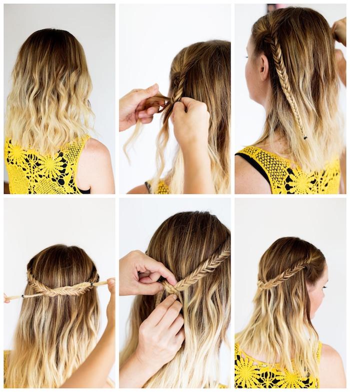 11 wie kann ich schulterlange haare selber stylen leichte ideen und inspiration frisur mit zopf selber machen frisuren für mittellanges haar blond