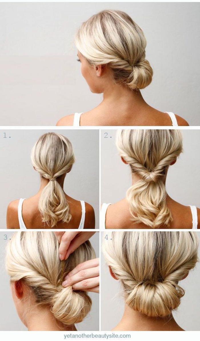 12 wie sie schulterlange haare stylen können leichte frisuren zum selber machen diy anleitung schritt für schritt erklärung
