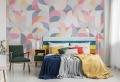 Pastellfarbene Fototapeten im Schlafzimmer und wie sie das Styling verändern
