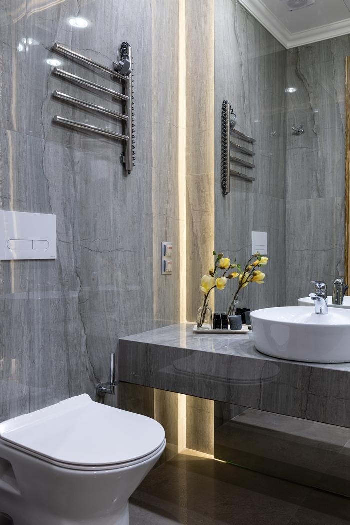 badezimmer einrichten kleines bad gestalten moderne einrichtung badezimmerbeleuchtung led
