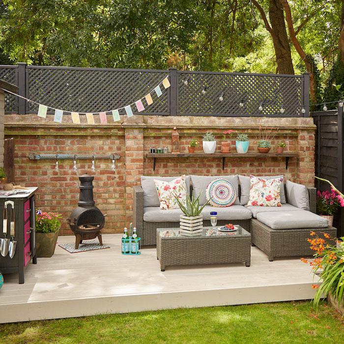 'we've made a living room outside'