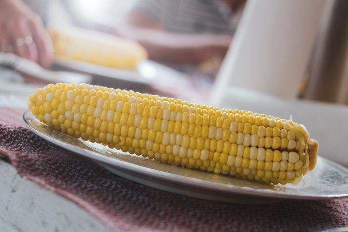 ein teller mit maiskolben tipps zum maiskolben richtig grillen was für salate zum grillen