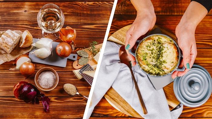 französische zwiebelsuppe rezept archzine studio suppe mit zwiebel käse und frischen kräutern