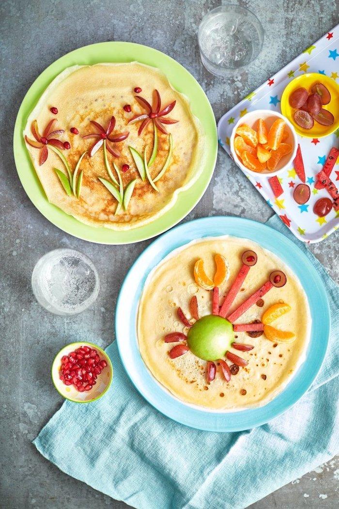 gefüllte pfannkuchen rezept pfannkuchenfüllung füllung für pfannkuchen zwei teller lustige füllung mit früchten