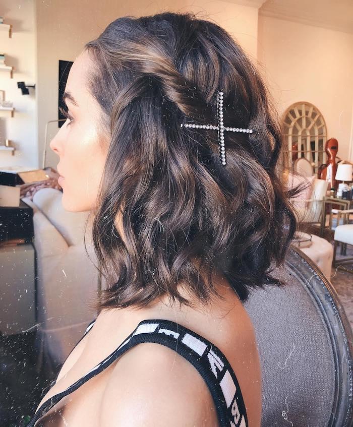 gewellte frisuren mittellanges haar schulterlange braune haare olivia culpo inspiration