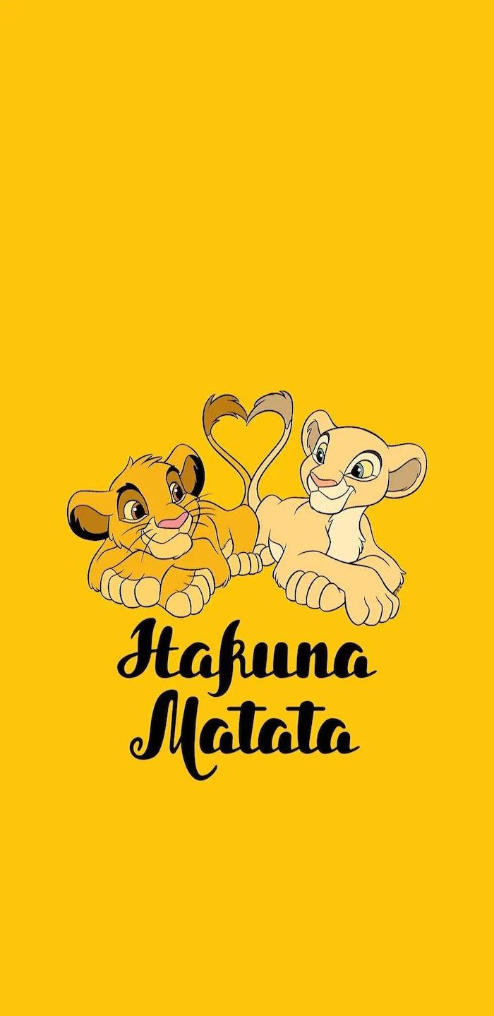 hakuna matata simba und nala hintergrund bild der könig der löwen hintergrundbilder disney figuren ideen