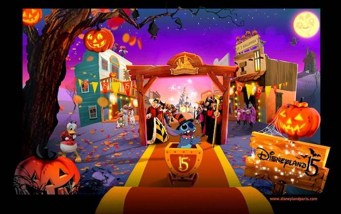 halloween hintergrundbilder disney figuren donald duck stitch bösewichter schöne wallpaper kostenlos herunterladen