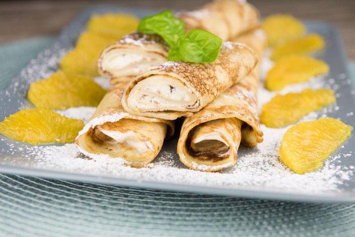 herzhafte pfannkuchen vegetarisch pfannkuchen dünne pfannkuchen rezept pfannkuchen mit quark orangen gerollt