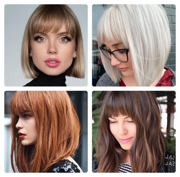 kurzer bob mit pony ponyfrisuren für damen trandige hairstyles moderne haarfarben und haarschnitte
