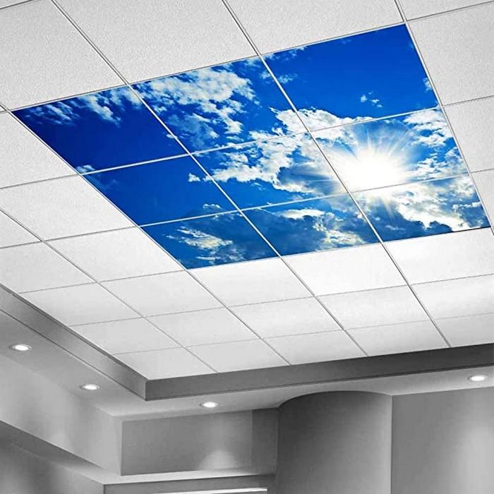 led panel deckenleuchte led panel ledpanelgrosshandel paneil einbauen rasterdecke led panel himmel strahlende sonne print