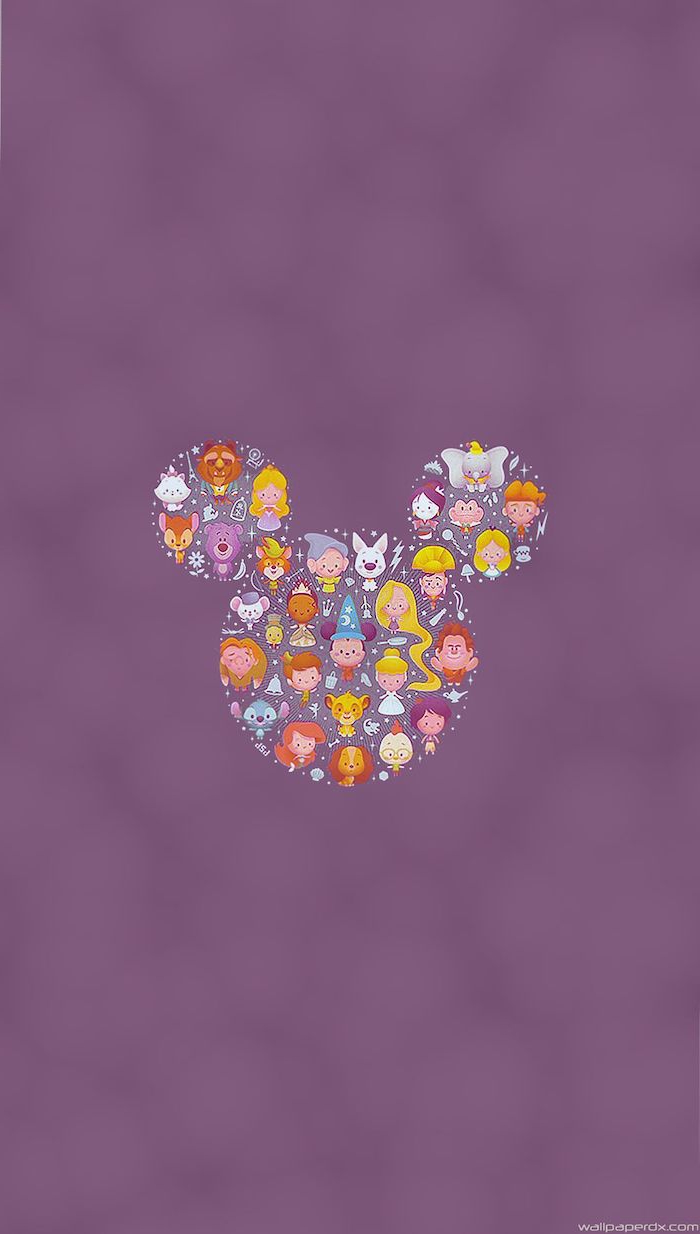 lila-hintergrund-mickey-mouse-ohren-abgebildete-disney-figuren-stitch-das-biest-dumbo-mulan-simba-quasimodo-hintergrundbilder-disney