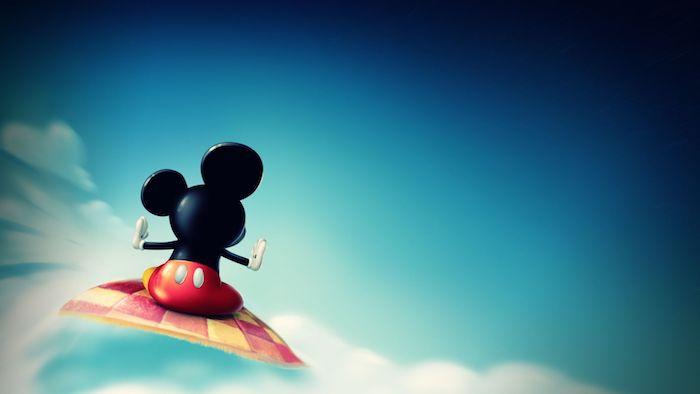 pc computer hintergrund bild hd hintergrundbilder mickey mouse auf einem fliegenden teppich walt disney