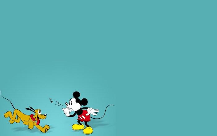 pc deskto hintergrundbilder disney figuren mickey mouse und pluto walt disney figuren