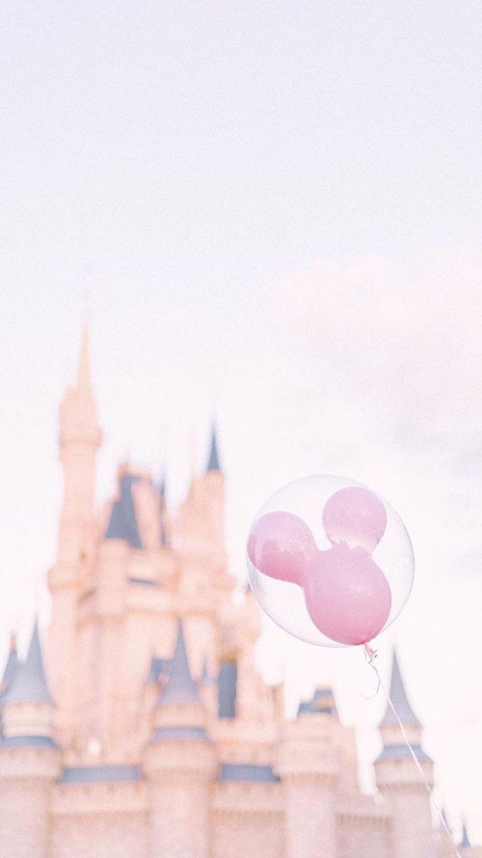 schloss disney land hintergrundbilder mickey mouse pinker ballon in einem anderen ballon süße bilder hintergrund für handy und pc