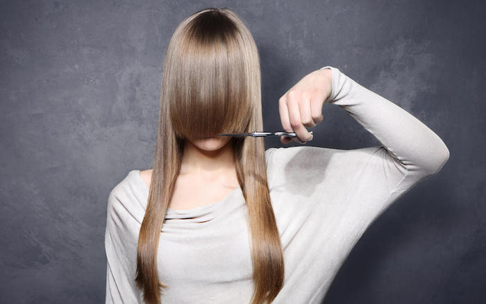 girl with scissors
