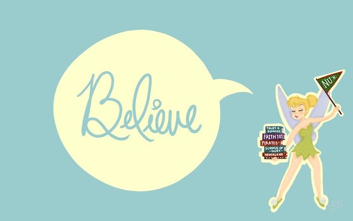 tinkerbell aus peter pan film süße hintergrundbilder mit motivation sprüche believe wallpaper für pc