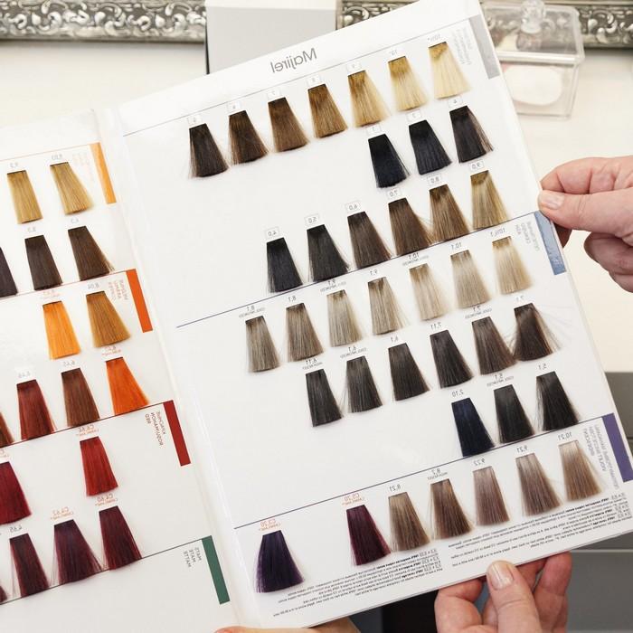 untere haare färben haare färben braun haaransatz färben aschblond farbpalette auswählen