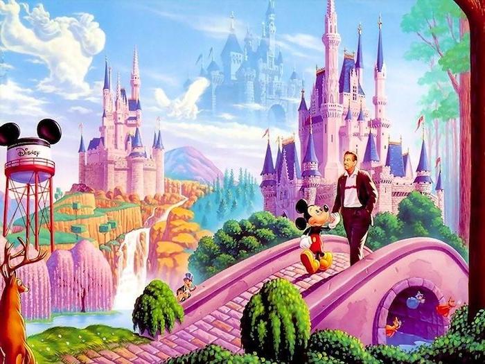walt disney und micke mouse im magischen land disney desktop wallpaper ideen und inspo