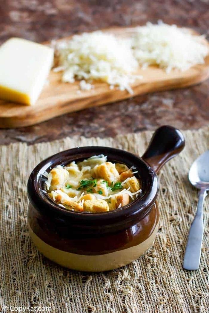 zwiebelsuppe französisch abendessen einfach und schnell gesunde suppen rezepte