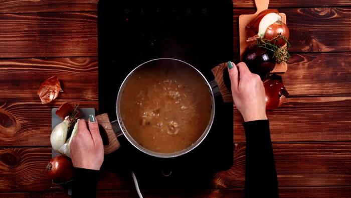 zwiebelsuppe rezept einfach französische suppe mit zwiebel kochen schritt für schritt