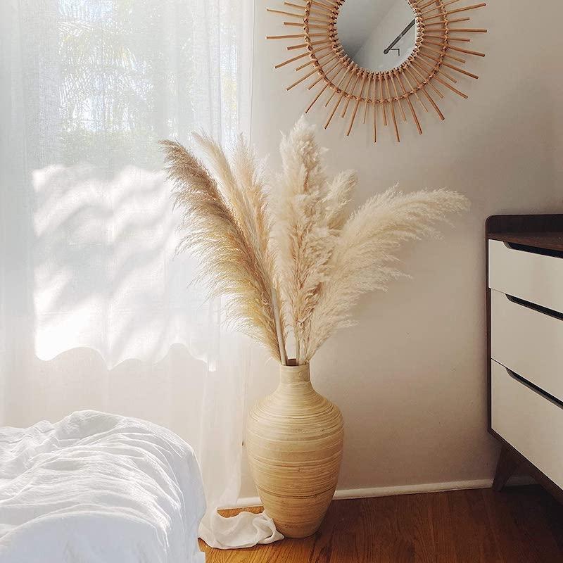 13 große vase pampasgras pflege schlafzimmer deko