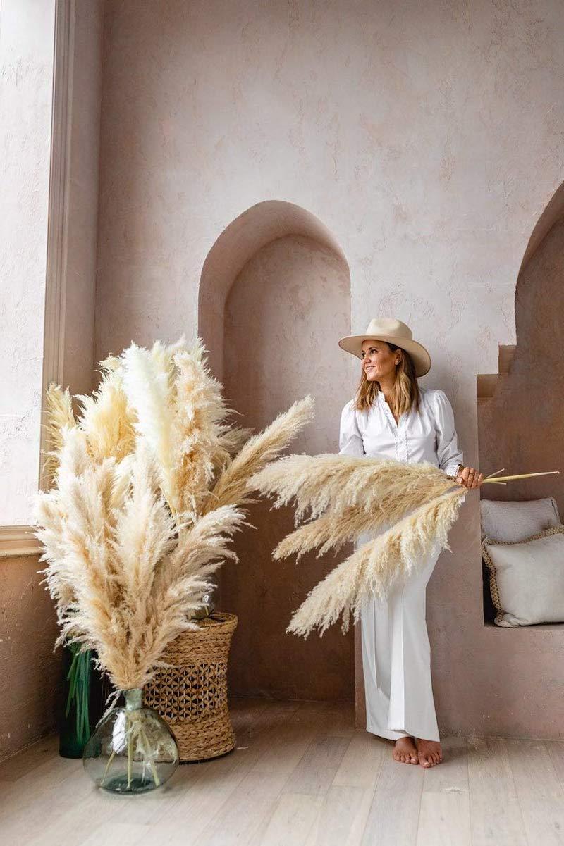 7 elegante dame pampasgras bilder dekoration wohnzimmer
