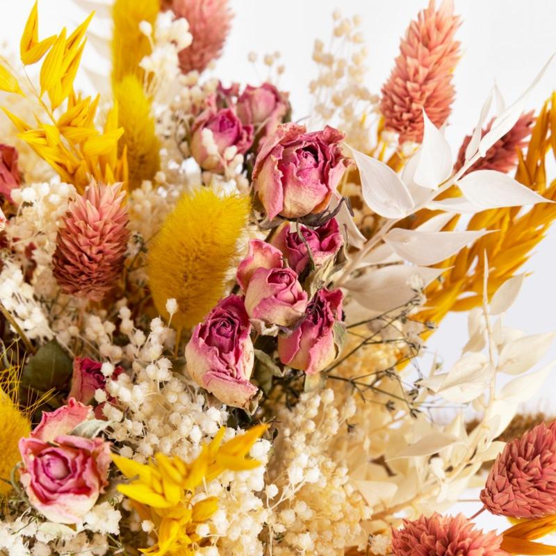 deko ideen mit trockenblumen