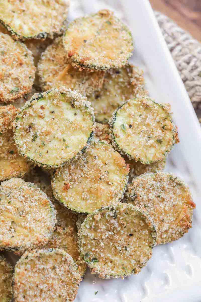 gebratene zucchini chips mit wenig kalorien
