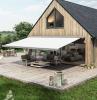 großes holzhaus mit terrasse markise sonnenschutz kaufen wichtige informationen