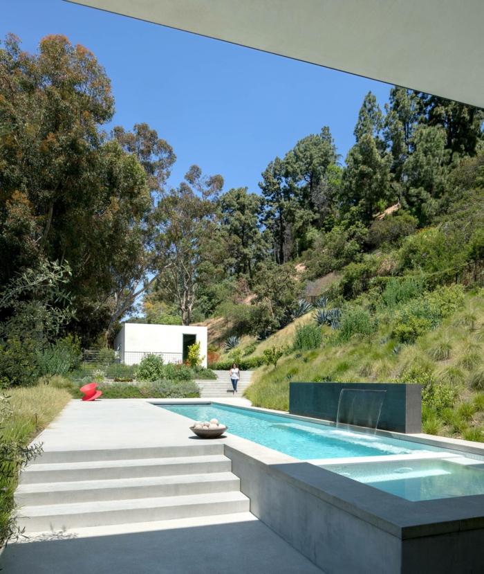 haus mit kleinem schwimmbad poolgestaltung für garten luxuriöse ideen und inspiration