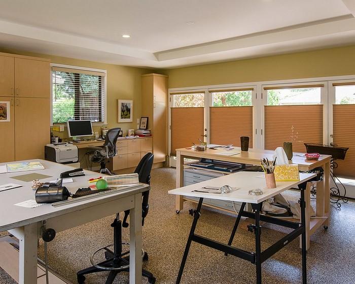 home office ideen kleines büro einrichten büro zuhause einrichten schreibtisch in der garage