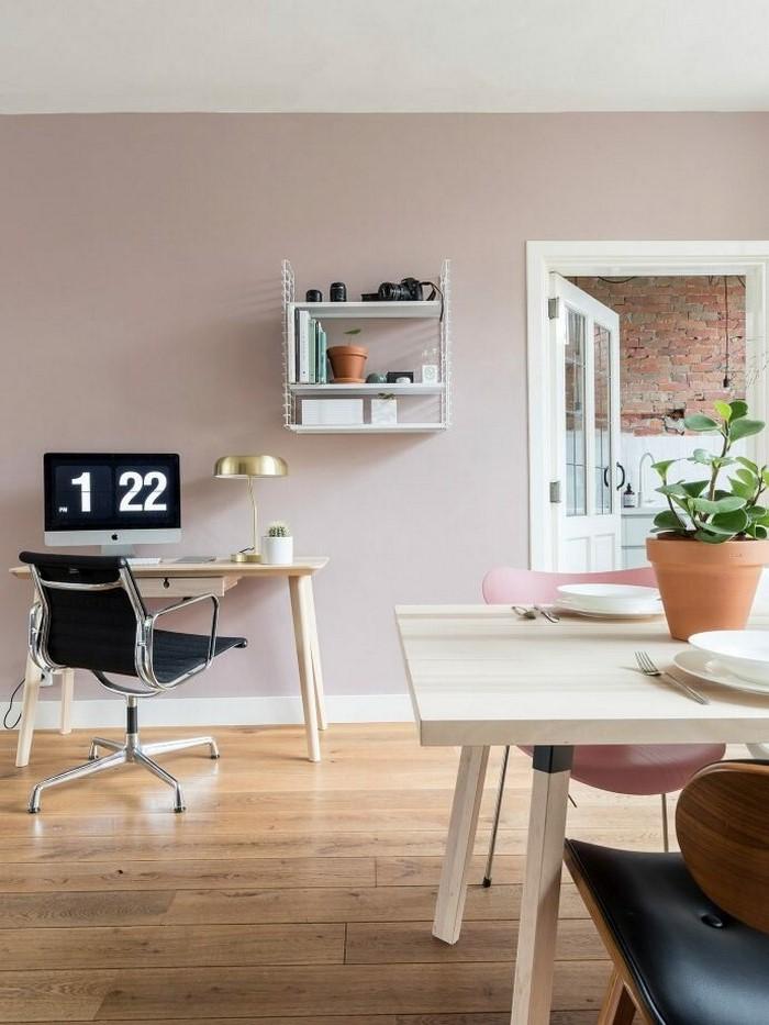 home office ideen schreibtisch wohnzimmer einrichten büro zuhause einrichten kleines schreibtisch weiß mit bürostuhl kleines wandregal