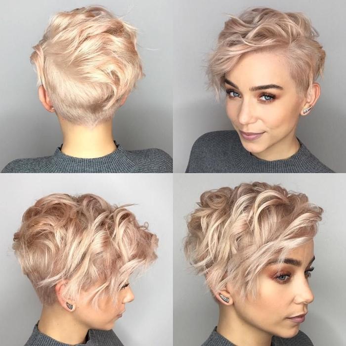 kurze haare locken frisurenideen für frauen kiuruhaarfrisuren moderne haarfarben pixie frisur