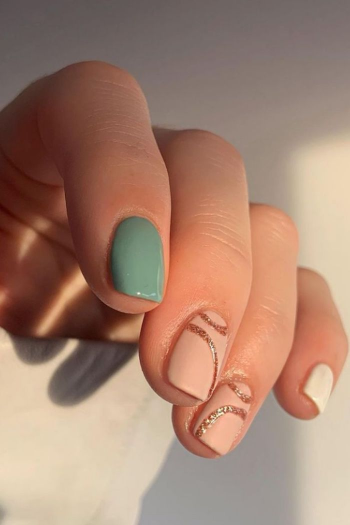 green nails for summer