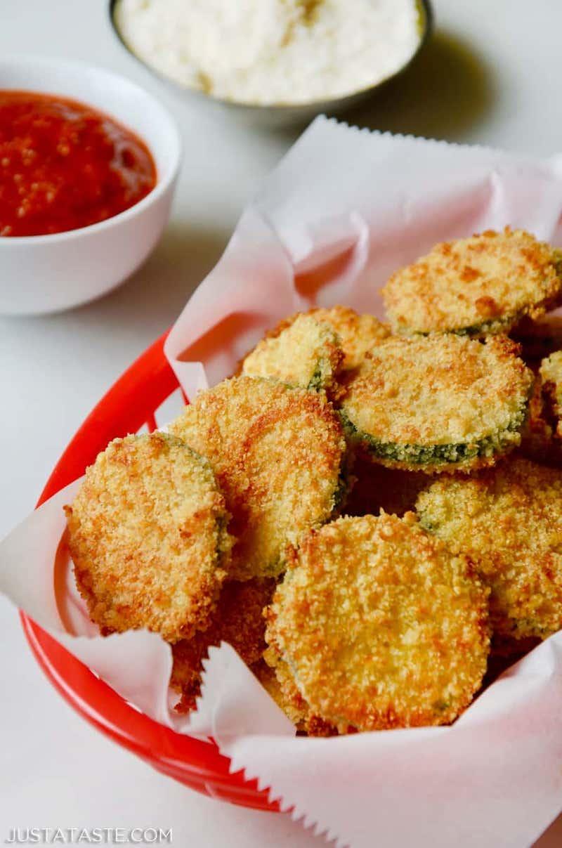 parmesa chips aus zucchini selber machen rezept