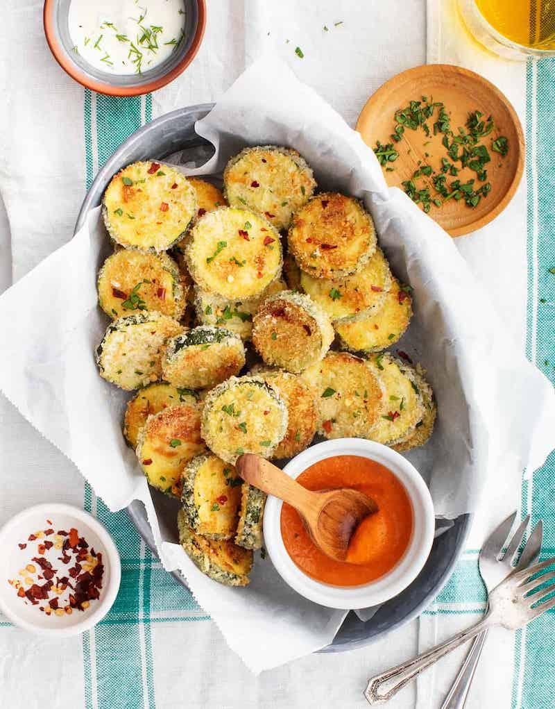 party essen zubereiten zucchini chips rezept
