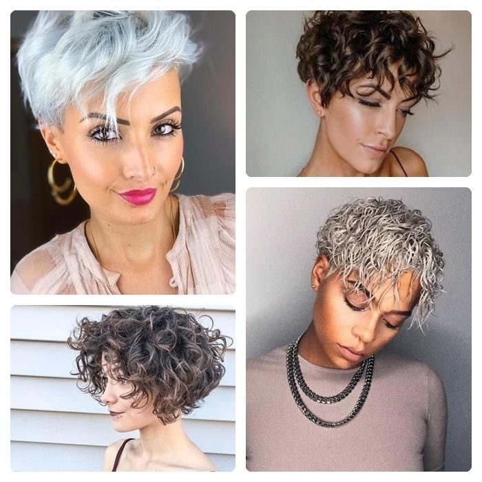 pixie cut mit locken trendige frisuren für damen lockige kurze haare kurzhaarfrisuren ideen beispiele