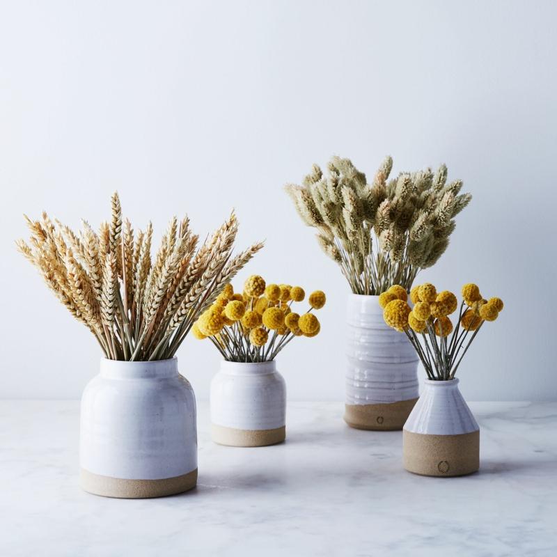 vasen mit trockenblumen