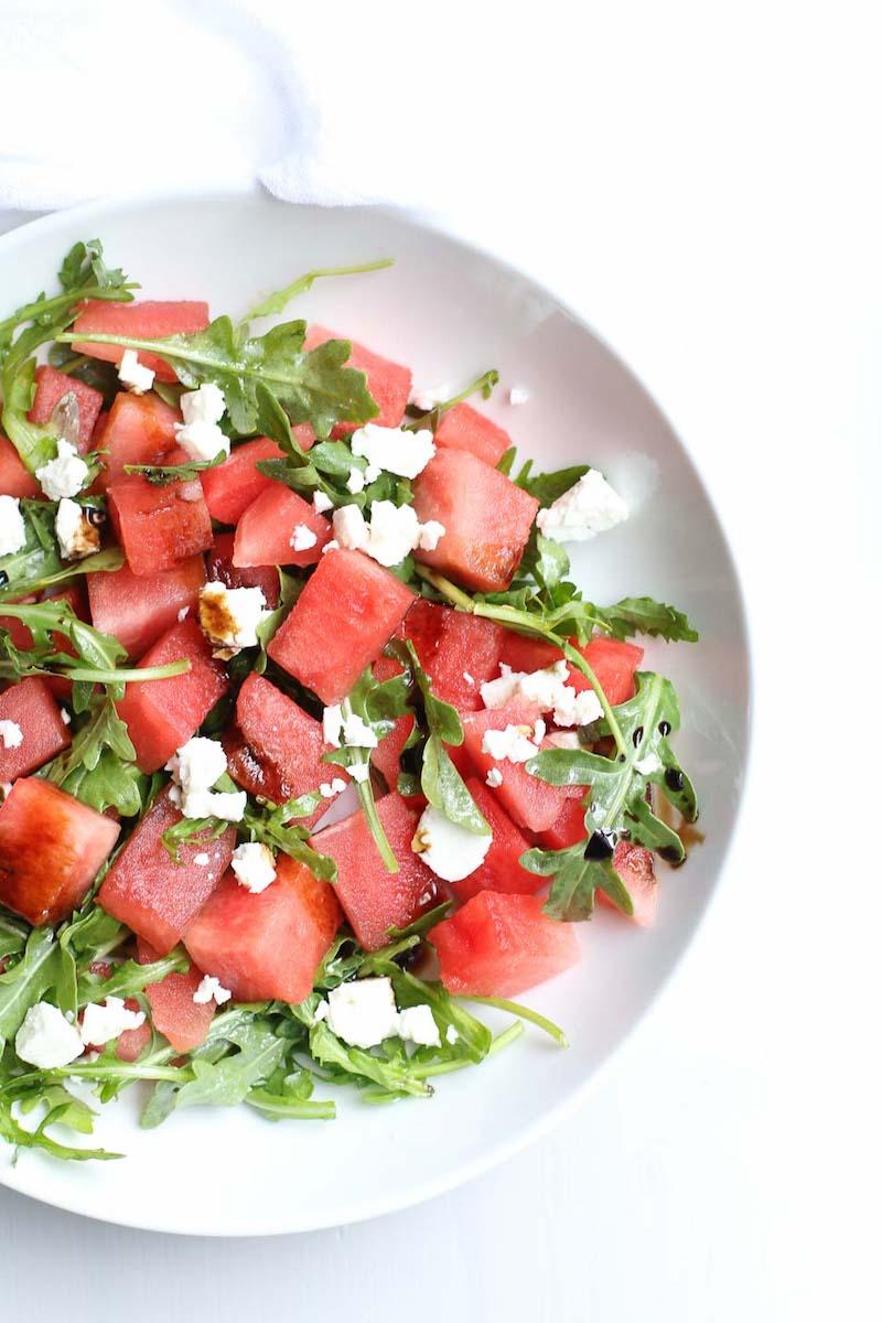 wassermelone feta salat selber machen leichtes rezept