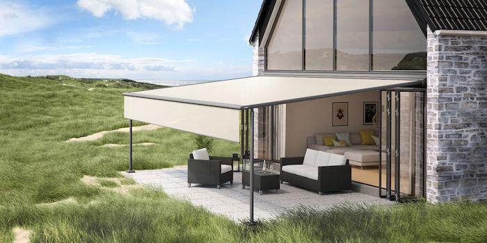 welche möglichkeiten für sonnenschutz im garten gibt es terrasse mit gartenmöbel schönes modernes haus pergola kaufen