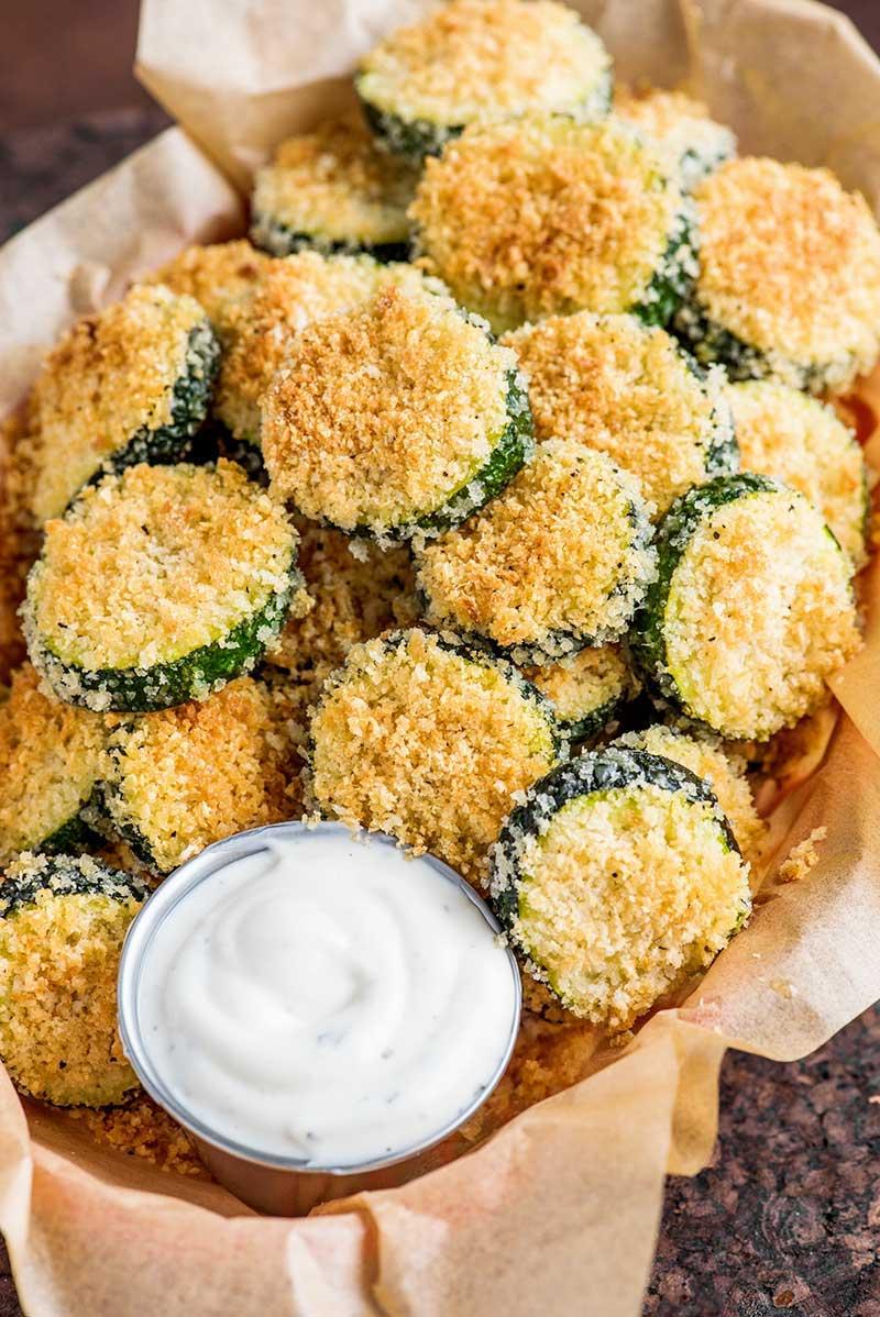 wie viel kalorien hat eine zucchini chips selber machen mit dip