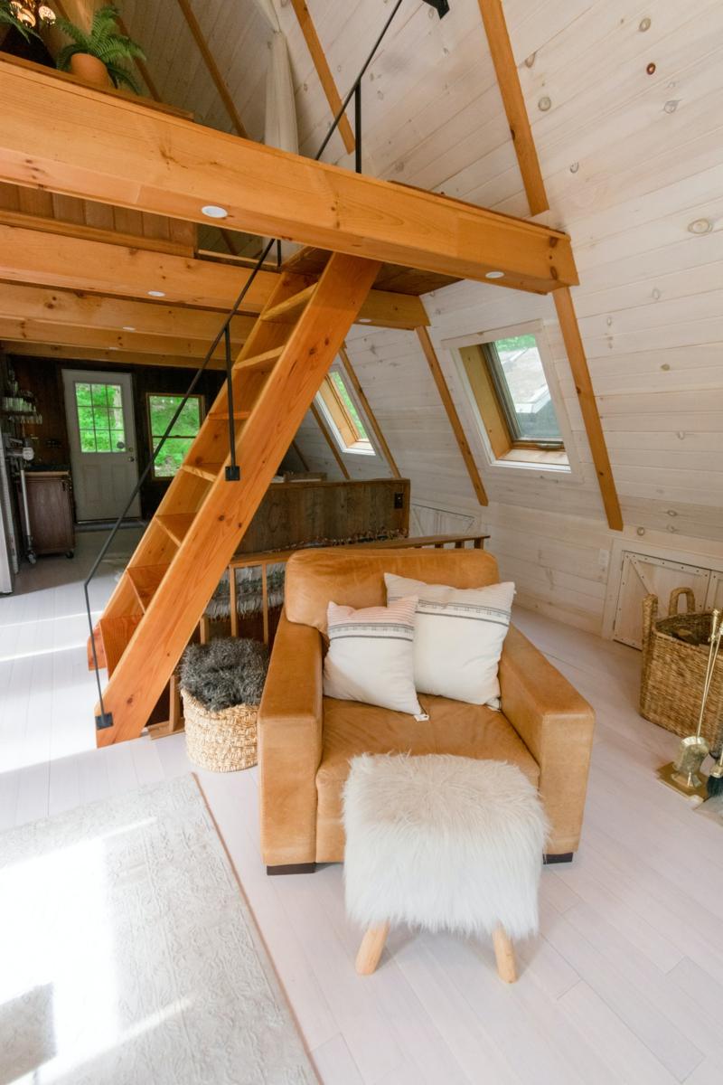 wohnideen mit stahl und holz großes wohnzimmer